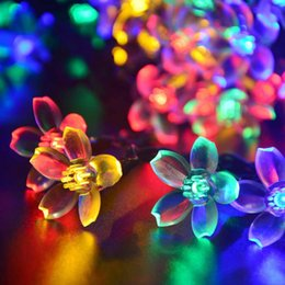 Wholesale Decoration For Patio - Solar String Lights Outdoor Flower Garden Light 21ft 50 LED Blossom Lighting for Christmas Garden Wedding Party Decoration Patio