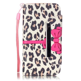 Wholesale Leopard Iphone 4s Case - Human skeleton Flowers leopard print magnetic clip TPU inside wallet cardslot Flipstand PU leather case for iphone 4S 5C 5S SE 6S PLUS