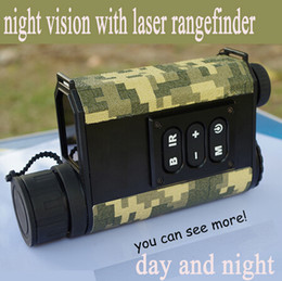 Wholesale Infrared Night Goggles - Wholesale-6X32 digital monocular infrared day and night vision goggles with rangefinder and compass Night Vision telescope for hunting