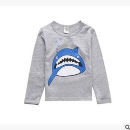 Wholesale Clothes Classic For Baby Boys - Spring FALL Brand Cartoon Long Sleeve T-shirts for Baby Boys and Girls Clothes Animal Shark Little Girl Princess Costumes Boutique Clothing