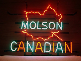 Wholesale Molson Beer - Brand New Molson Canadian Real Glass Neon Sign Beer light