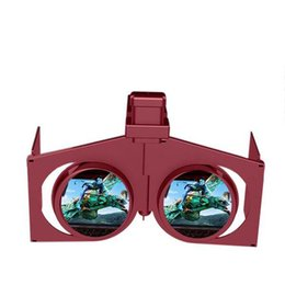 Wholesale Video Game Portable 3d - VR Fold V1 3D Virtual Reality Glasses - BLACK Portable Foldable Immersive Game Video Private Theater for Smartphone 30pcs DHL free shipping