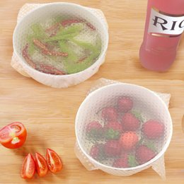 Wholesale Foods Can - 22*22Cm Silicone Stretch Lids Keep Food Fresh Stretchable Dish Covers For Bowls Cups Pots Can Flexible Reusable Freezable Microwave Cover