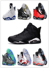 Wholesale Cheap Men Sneakers Online - Free Shipping 2016 air retro 6 cheap basketball shoes Olympic red black Infrared Carmine Sneaker Sport Shoe For Online Sale size 8 - 13
