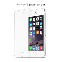 Wholesale Iphone Original Protector - Original Baixin 0.3mm 2.5D Tempered Glass Screen Protector For iPhone 5 5S 5c SE HD Toughened Protective Film + Cleaning Kit