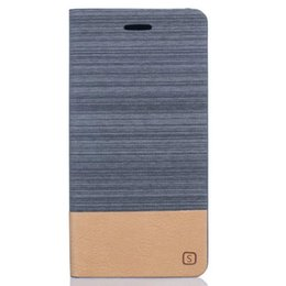 Wholesale Card Case Wood Wholesale - Magnetic Canvas Wood Wallet Leather Pouch Case For Samsung Galaxy S8 A3 A5 A7 J3 J5 2017 Iphone 7 Plus I7 Huawei P10 Stand ID Card TPU Cover