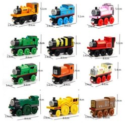 Wholesale Trains Toys For Kids - Wooden Toy Vehicles Cartoon Wood Trains Model Car Toy Magnetic Train Great Kids Christmas Toys Gifts for Boys Girls b985 Retail Packaging
