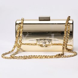 Wholesale Designer Tyrant Gold plated Acrylic Handbags Famous Evening Bags Brick Vintage Clutch Shoulder Bags Tote Purse Party Women