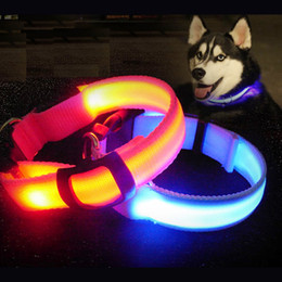 Wholesale Christmas Led Dog Collar - New Glow Adjustable Small Pet Led Dog Collar Adjustable Collars Night Flashing Luminous cat Safety party Christmas Accessories light