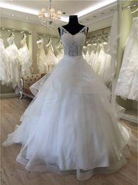 Wholesale Design Back Wedding Dress - V Neck Lace Up Back A Line 2016 Long Floor Length Custom Made Formal Bridal Gowns Designs NW019 Wedding Dress Bridal