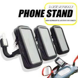 Wholesale Phone Bike Mount Waterproof - Waterproof Case Stand Mount Motorcycle Bicycle Bike with Mobile Phone Bag for Samsung Android Apple iPhone Holder Bracket