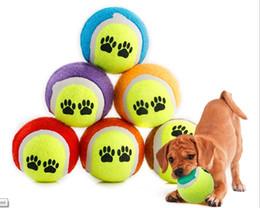 Wholesale Pet Toy Rubber Ball - Double color rubber ,pet toys ,Dog footprints, pet tennis ball