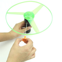 Wholesale Boomerang Spinning Toys - Plastic Flying Toys Outdoor Fun Sports Disk Frisbees Flying Saucer Boomerang Arbalest Glowing UFO Copter Clover Spin LED Light