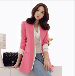 Wholesale Ol Small Suit - 2016 Autumn OL new career commuting career hit a solid color hit a small button suit ladies jacket