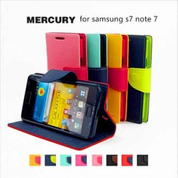 Wholesale Mercury Flip Case - For Samsung note 8 Mercury Fancy Diary Wallet Stand Leather Case Card Slot Flip Back Cover For samsung s8 s8 plus s7 s7 edge s6 s6 edge s5