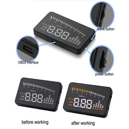"Wholesale Car Head Up - Auto HUD OBD II EOBD System Model Display X5 Multi-function 3"" Car HUD Vehicle-Mounted Head Up Display"