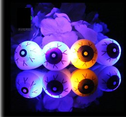 New Halloween LED Flashing Soft Rubber Eye Ring Kids Toys Novelty Design Party Decoration Supplies Christmas Gift For Adults and Childr Deals