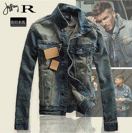 Wholesale High Fashion Mens Clothes - Denim Jacket Men Slim fit Vintage Mens Jacket and Coat High Quality Fashion Casual Jeans Jackets 2016 New Outdoor Jeans Clothing