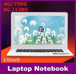Wholesale Cheap Ddr3 - factory 14inch Dual core notebook computer 4GB DDR3 750GB intel J1800 2.41Ghz WIFI webcam windows 7 8 computer cheap shipping