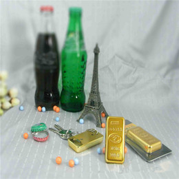 Wholesale Drinking Bottle Party - Original 2 in 1 Gold Bullion Gold Bar Bottler beer Opener with Keychain,Bar drinking Gold bottle opener key ring gadgets for Home Party gift