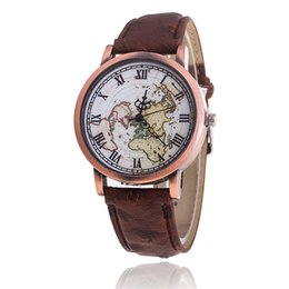 Wholesale Map Watches - fashion free shipping wholesale fashion The Restoring ancient ways second hand map dial watches metal watches