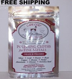 Wholesale Bathroom Clean - Cape Cod Polish Polishing Jewelry Cloths cleaning Polishes Remove Watch Scratches Remove Tarnish Silver polish cleaning cloth drop shipping