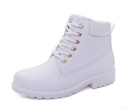Wholesale Heeled Work Boots For Women - 2017 autumn winter women ankle boots new fashion woman snow boots for girls ladies work shoes plus size 36-41