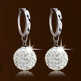Wholesale Titanium Cross Earrings - s925 Silver Shambhala full diamond earrings earrings princess ball earrings earrings female factory wholesale