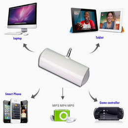 Wholesale External Speakers For Mobile Phones - 3.5mm Universal External Mini Portable Speaker for IPhone S4 5 6 I9500 N9000 MP4 without battery
