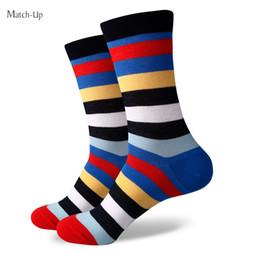 Wholesale Dress Socks For Men - 2016 Men's combed cotton brand men socks,colorful stripe dress socks,men socks,shipping for free 355