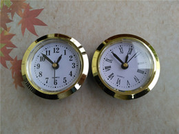 Wholesale Wholesale Clock Inserts - Wholesale 5 PCS Gold Diameter 50mm Insert Clock Clock Head Roma Number and Arbic Number for Craft Clock
