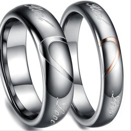 Wholesale Tungsten Comfort Fit Wedding Bands - Gold Tungsten Carbide Rings Wedding Bands in Comfort Fit Alliance Jewelry for Couple Rings Size 5-10 TU051RC