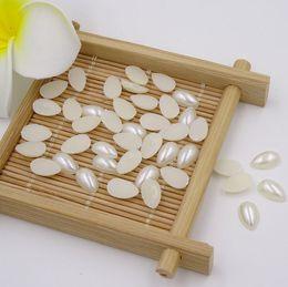 Wholesale Half Pearls For Scrapbooking - 6*10mm 300Pcs Teardrop Meia Perola Craft Beads Imitation Pearls Half Pearl Embellishments New For Scrapbooking Perola Artesanato