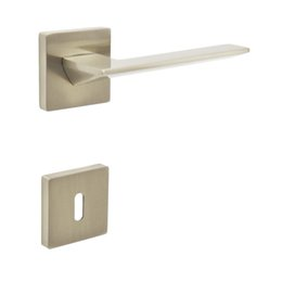 Wholesale Door Handles Levers - RK0489NB Door Lever Handleset Door handle with Key Hole Escutchoen Brush Nickel
