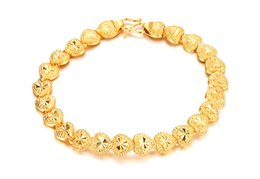 Wholesale Elegant Ladies Costumes - Charming Lady 18k Gold Plated Jewelry Elegant Fashion Bridal Wedding Dress Accessories Costume heart Bracelet Jewelry 5pcs lot