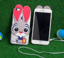 Wholesale Silicone Cases For Iphone China - China supplier Zootopia Judi rabbit phone case for iphone6s apple 6 plus for samsung mobile phone shell silicone NEW female cartoon