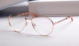 Wholesale Optical Glasses Womens - Luxury Brand Designer CE2128 Eyeglasses Mens Womens Retro Vintage Round Metal Big Frame Mypoia Glasses Spectacle Optical Eyewear Clear Lens