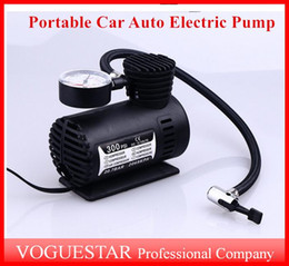 Wholesale 12v Car Compressor - Auto Electric Pump Air Compressor Mini 12V Car Auto Portable Pump Tire Inflator pumps Tool 300PSI ATP019