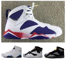 Wholesale Bunny Basketball Shoes - Wholesale DS Retro 7 Olympic Black Bordeaux Nights Hare Bugs Bunny hot sale free shipping Men Size Basketball Shoes