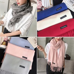Wholesale Ring News - 2017 NEWS women Ms winter long thickening scarf Imitation cashmere shawl fashion scarf 13 colors free shipping
