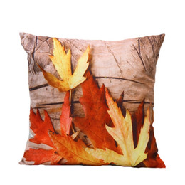 Wholesale Inner Cushions - Fall pillow 3D Maple Leaf Cushion (Without inner ) High Quality Faux Fur A Perfect Item to Decorate Your Room.