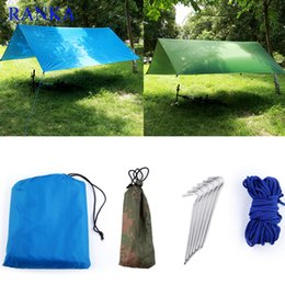 Wholesale Big Tents Camping - Wholesale- Sun Shelter Tent Waterproof Awning Hiking Portable Canopy Outdoor Gazebo Camping Mat 3*3m Big Size Camouflage Tarp Tent