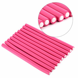 foam hair rollers curls Promo Codes - 30 Pcs  Set Flexi Rods Soft Foam Bendy Hair Roller Plastic Hair Curling Magic Diy Styling Sticks Tools Hair Curler For Hairstyle