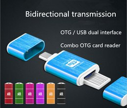 Wholesale Use Flat Phone - Wholesale mobile phone flat two-in-one OTG computer TF card reader Andrews dual-use external memory card U disk reader