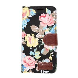Wholesale Note Flip Cover Colors - TPU Flower Cloth Wallet Case for Samsung galaxy note 7 With Three Colors Cover Card Slot Flip Stand Buckle Shell 30 PCS UP