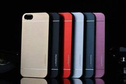 Canada Iphone x 7 6 5 5 s Case Motomo De Luxe En Aluminium Brossé PC Dur Retour Peau de Couverture Ultra Mince Slim Cas Pour iPhone 8 6 7 plus Samsung s7 Offre