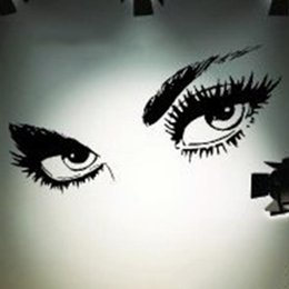 sexy decals wall art Promo Codes - Sexy Eyes Wall Sticker Home Decor Vinyl Art Home Black Decor Large Wall Decals Wall Stickers