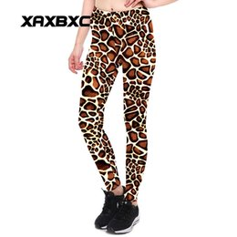 Canada 2017 Nouveau 3901 Mode Girafe motif léopard Rayures Imprime Sexy Fille Crayon Yoga Pantalon GYM Fitness Workout Haute Taille Femmes Leggings giraffe high on sale Offre