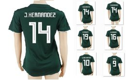 Wholesale Cheap Mexico Football Jerseys - Customized Mexico Women home Green 14 Chicharito Soccer Jerseys shirts,Cheap 9 R.Jimenez 15 MORENO 7 M.LAYUN Thai Quality Football Jerseys