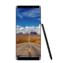 Wholesale Fake Blue - Goophone note 8 unlocked cellphone 6.3inch Curved screen 1GB 8GB 1440*720 Android 7.0 Show 64GB fake 4G LTE Smartphone
